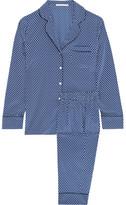 Stella McCartney Poppy Snoozing Printed Stretch-silk Crepe De Chine Pajama Set - Navy