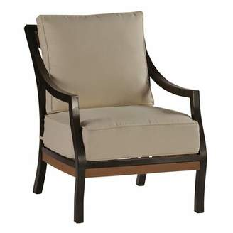 3.1 Phillip Lim Belize Patio Chair with Cushions Summer Classics Frame Color: Belize #31 Slate Gray/Oyster, Fabric Color: Adena Birch