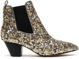 Marc Jacobs Kim Sequined Metallic Leather Ankle Boots