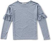 Copper Key Big Girls 7-16 Ruffle-Sleeve Knit Top