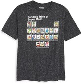 JEM Boy's Periodic Table Of Super Mario Graphic T-Shirt