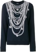 Just Cavalli necklace print sweatshirt