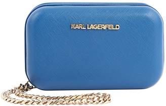 Karl Lagerfeld Paris Blue Leather Clutch bags