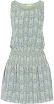 Joie Lawska printed washed-silk mini dress