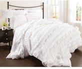 Lush Decor Belle 4-Piece Comforter Set, Queen, White