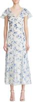 Ralph Lauren Kegan Floral Toile Evening Dress