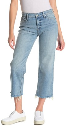 Hudson Jeans Stella Midrise Straight Leg Cropped Jeans