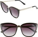 Quay Honey 55mm Cat Eye Sunglasses