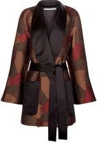 Rosetta Getty Multi Jacquard Wrap Tuxedo Jacket