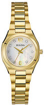 Bulova Ladies Goldtone Watch with Mother of Pearl Dial