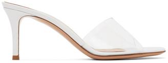 Gianvito Rossi White Glass Heels