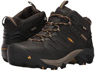 Keen Lansing Mid Waterproof Steel Toe (Raven/Tawny Olive) Men's Work Boots