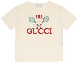 Gucci Kids Oversized cotton-jersey T-shirt