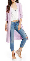 Free People Ribby Rib Open Front Cardigan