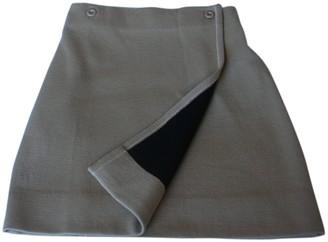 Genny Beige Wool Skirt for Women