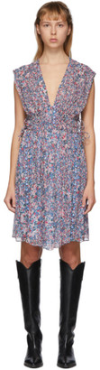 Isabel Marant Blue and Multicolor Oaxoli Dress
