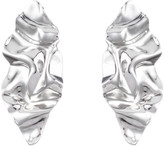 Alexis Bittar Crumpled Rhodium Post Earring