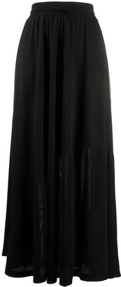 Y-3 Pleated Long-Line Skirt