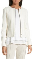 BOSS Women's Koralie Zip Front Jacket
