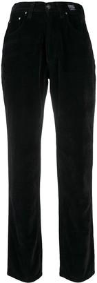 Versace Pre-Owned 1990s Velvet Straight-Leg Trousers