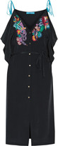 Matthew Williamson Belted embroidered silk dress