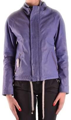 Virtus Palestre Women's Purple Leather Outerwear Jacket.