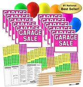 S.t.a.m.p.s. Garage Sale Sign Kit with Pricing Stickers and Wood Sign Stakes (A802G)