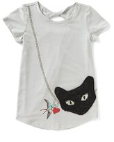 Jessica Simpson Big Girls 7-16 Katelyn Panther-Purse Tee