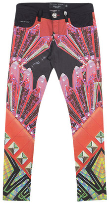 Philipp Plein Devil's Food Printed Stretch Cotton Jeggings S