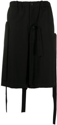 Yohji Yamamoto Detachable Strap Knee-Length Shorts