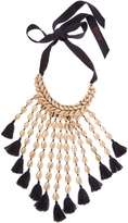 Figue Sina shell and tassel necklace