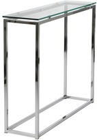 Apt2B Gardner Console Table GLASS TOP/CHROME