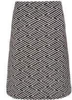 Dorothy Perkins **Tall Black and White Chevron Mini Skirt