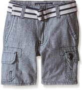 U.S. Polo Assn. Toddler Boys Belted Chambray Cargo Short