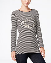 Maison Jules Striped Graphic T-Shirt, Only at Macy's