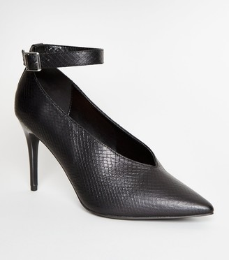 New Look Faux Snake Stiletto Heels