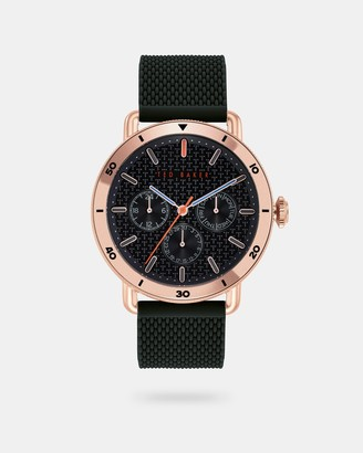 Ted Baker MARGARC Engraved silicone strap watch