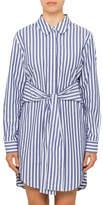 Alexander Wang Longsleeve Tie Front Collared Dress