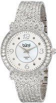 Burgi Women's BUR120SS Diamond & Crystal Accented Mother-of-Pearl Dial Silver Bracelet Watch