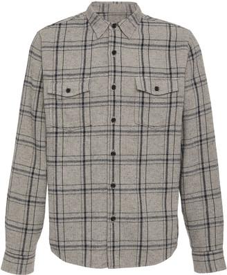 Frame Plaid Cotton Button-Down Shirt
