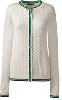 Classic Women's Supima Pointelle Cardigan Sweater-Teak Brown