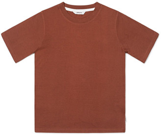 Wemoto Maroon Bleu Lyocell T-Shirt - S | cotton | maroon - Maroon