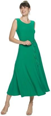 Nina Leonard Women's A-Line Midi Tank Dress