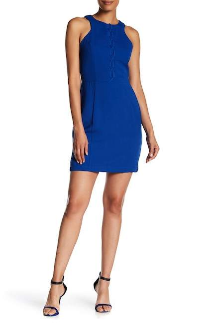 Adelyn Rae Lace-Up Front Dress