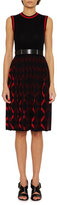 Bottega Veneta Sleeveless Knit A-Line Dress, Blue/Red
