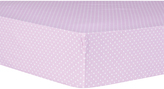 Trend Lab Lilac Orchid Bloom Dot Fitted Crib Sheet