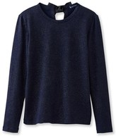 Petit Bateau Shiny long-sleeved womens tee with a bow in the back