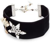 Marc Jacobs Martini Star Velvet Choker Necklace