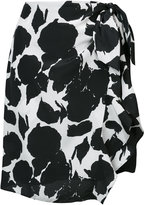 Derek Lam 10 Crosby Knotted Sarong Mini Skirt