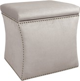 The Well Appointed House Nail Button Storage Ottoman in Mystere Dove